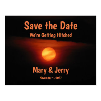 Full Harvest Moon Save the Date Postcard