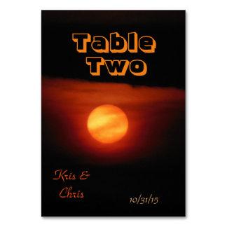 Full Harvest Moon Wedding Table Card