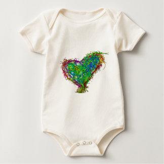 Full heart baby bodysuit