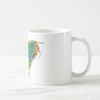 Full heart basic white mug