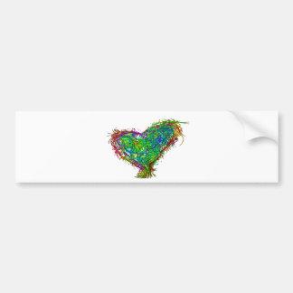Full heart bumper sticker