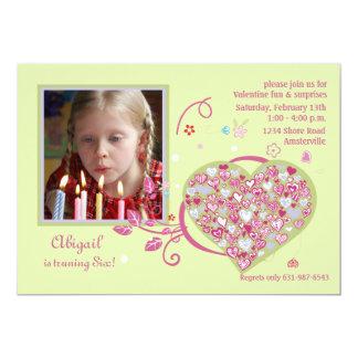 Full Heart Photo Invitation
