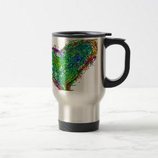 Full heart stainless steel travel mug
