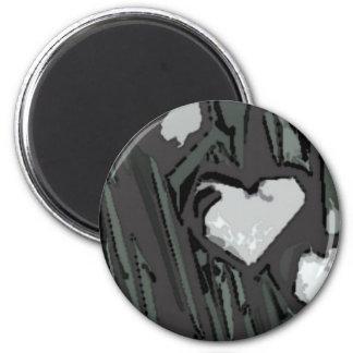 Full Hearts 6 Cm Round Magnet
