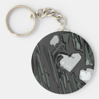 Full Hearts Basic Round Button Key Ring