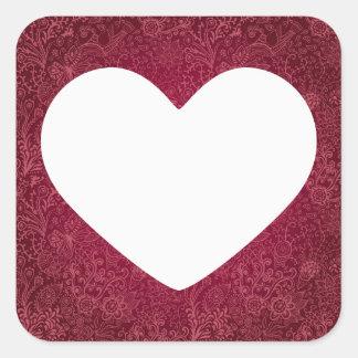 Full Hearts Minimal Square Sticker