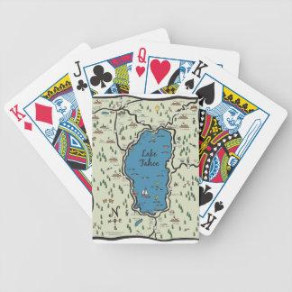 Full Lake Tahoe Area Map Poker Deck