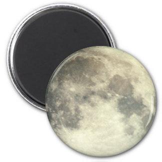 Full Moon 6 Cm Round Magnet