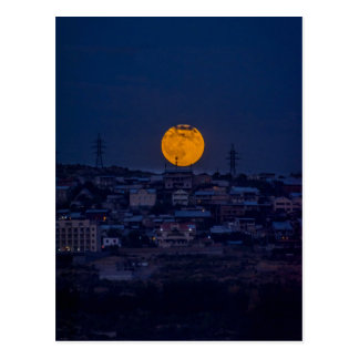 Full moon above Yerevan Postcard