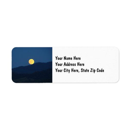 Full Moon Address Name Labels custom