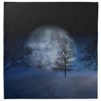 Full Moon Among the Treetops Napkin