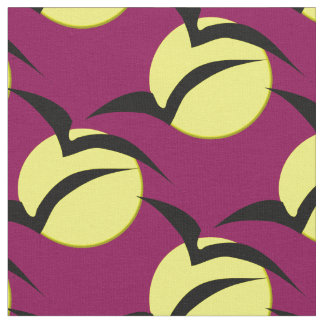 Full Moon and Bats Craft Fabric