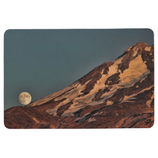 FULL MOON AND MOUNT SHASTA FLOOR MAT