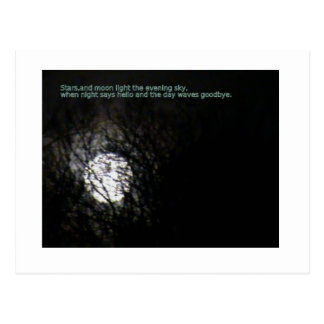 Full Moon and Poem Postcard