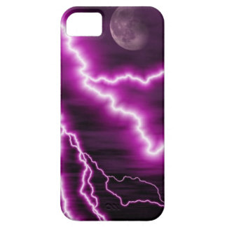 Full Moon and Purple Lightning iPhone 5 Cover