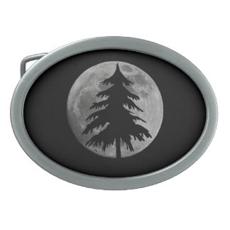 FULL MOON AND TREE BELT BUCKLE
