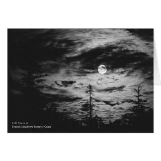 Full Moon at French Meadows Summer Camp Card
