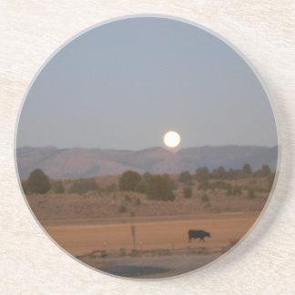 Full Moon at Twilight Drink Coasters