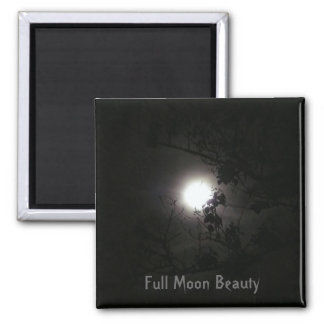 Full Moon Beauty Square Magnet