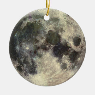 Full Moon Ceramic Ornament