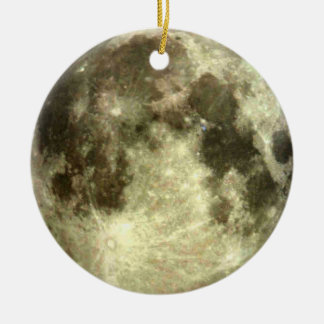 Full Moon Christmas Ceramic Ornament