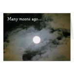 Full Moon Clouds Nature Humourous Birthday Card