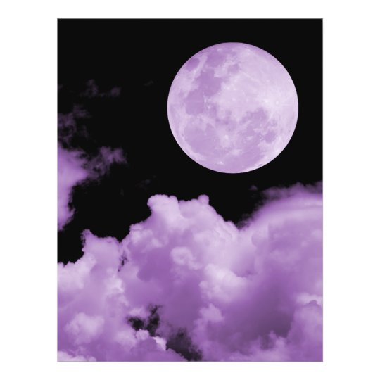 FULL MOON CLOUDS PURPLE 21.5 CM X 28 CM FLYER