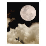 FULL MOON CLOUDS SEPIA FULL COLOUR FLYER