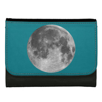 Full moon customizable products leather wallet for women