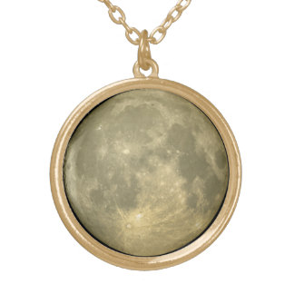 Full Moon Gold Plated Necklace