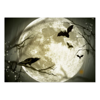 Full Moon Halloween Business Card