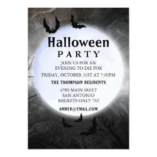 Full Moon Halloween Party Invitations