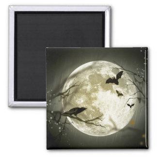 Full Moon Halloween Refrigerator Magnet