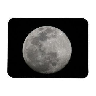 Full moon in black and white. Credit as: Arthur Rectangular Photo Magnet
