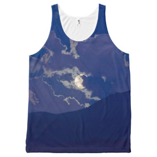 FULL MOON IN CLOUDS All-Over PRINT TANK TOP