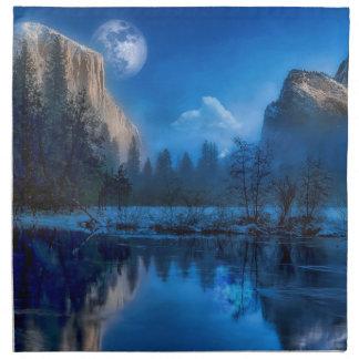 Full moon in Yosemite Napkin