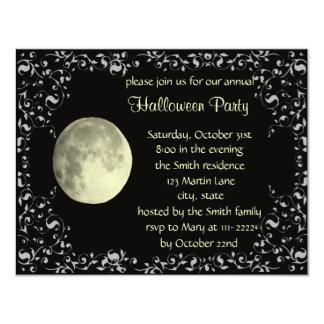 "Full Moon Invitation Card Template 4.25"" X 5.5"" Invitation Card"
