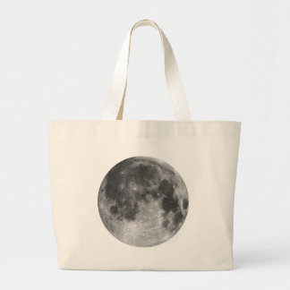 Full moon large tote bag
