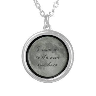 Full Moon Love Round Pendant Necklace