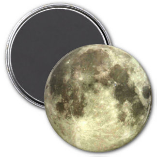 Full Moon Magnet 3 Inch Round Magnet