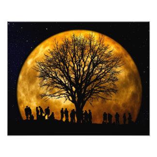 Full Moon Midnight Photo Print