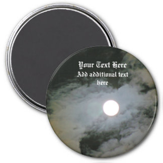 Full Moon Night Sky Personalized 7.5 Cm Round Magnet