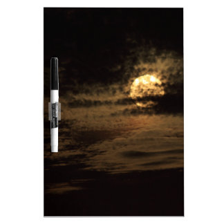 Full Moon of November hiding in the clouds Dry Erase Board