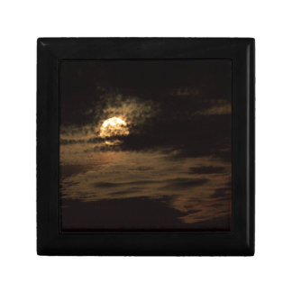 Full Moon of November hiding in the clouds Gift Box