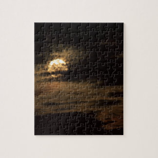Full Moon of November hiding in the clouds Jigsaw Puzzle