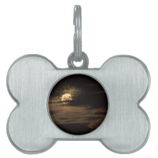 Full Moon of November hiding in the clouds Pet Name Tag