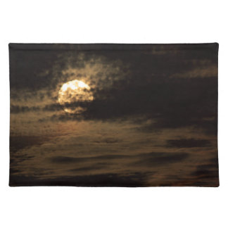 Full Moon of November hiding in the clouds Placemat