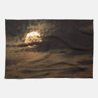 Full Moon of November hiding in the clouds Tea Towel