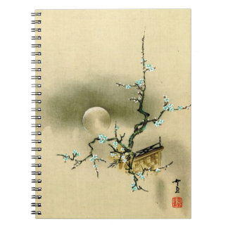 Full Moon over Blossoming Branch 1895 Spiral Notebooks