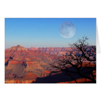 Full Moon Over the Grand Canyon Card